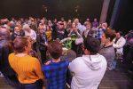 Building STEAM Schaumburg sculpture and crowd