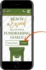 website mobile call to action example