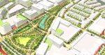 3D render greenway plan