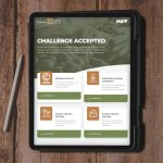 Landing page design for NoWaste technology brand shown on a tablet screen