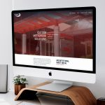 Custom sheet metal company website shown on desktop sized computer