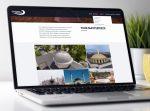 Progressive Dynamics website portfolio page website shown on a laptop computer