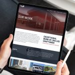 Custom sheet metal company website shown on tablet sized screen to demonstrate responsive design