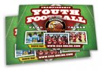 stack of postcards for youth football team