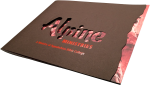 view of print and die cut for brochure cover