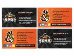 business card design for Schaumburg baseball team