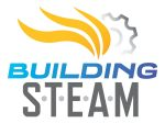 Logo Design for Building Steam in Schaumburg, white background