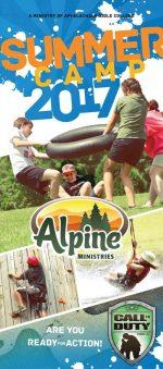 Christian camp brochure design, army theme
