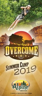 Christian camp brochure design, western theme