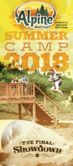 Christian camp brochure design, summer theme