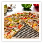 Non-stick pizza screen in framed layout