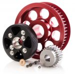 studio lighting of timing pulleys and gears