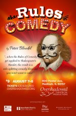 Poster design for comedy theater